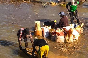 Mining activity in Africa