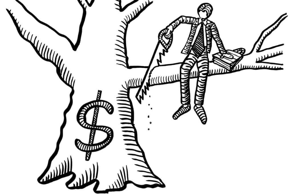 Self destructive investor behavior